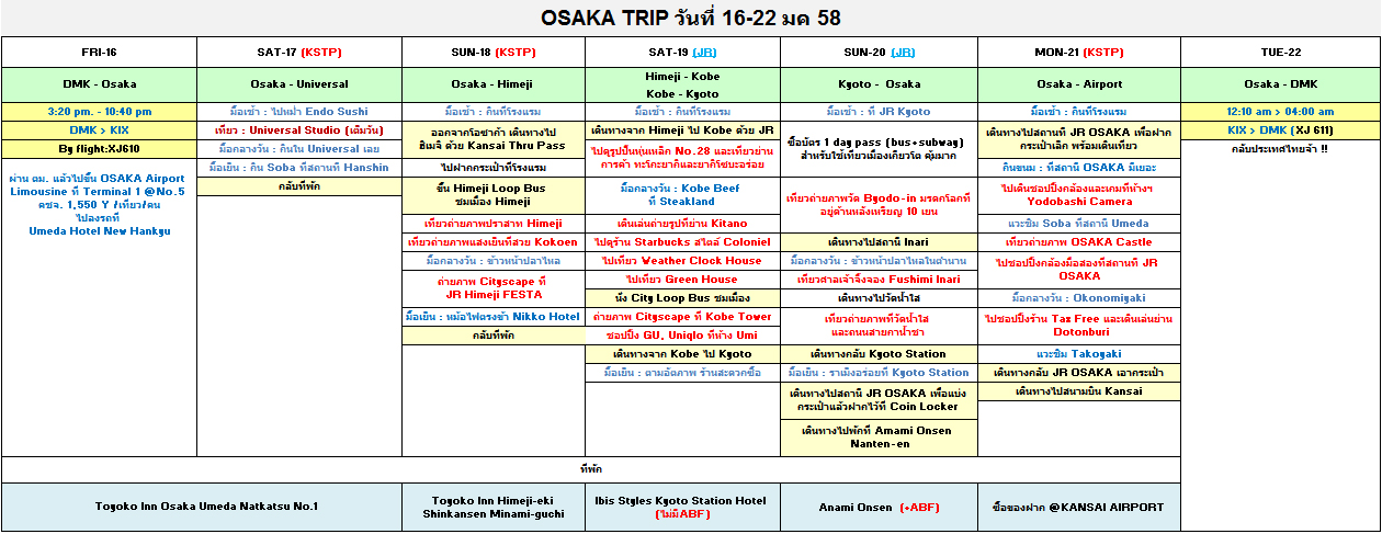 Itinerary-Kansai-Jan-2015